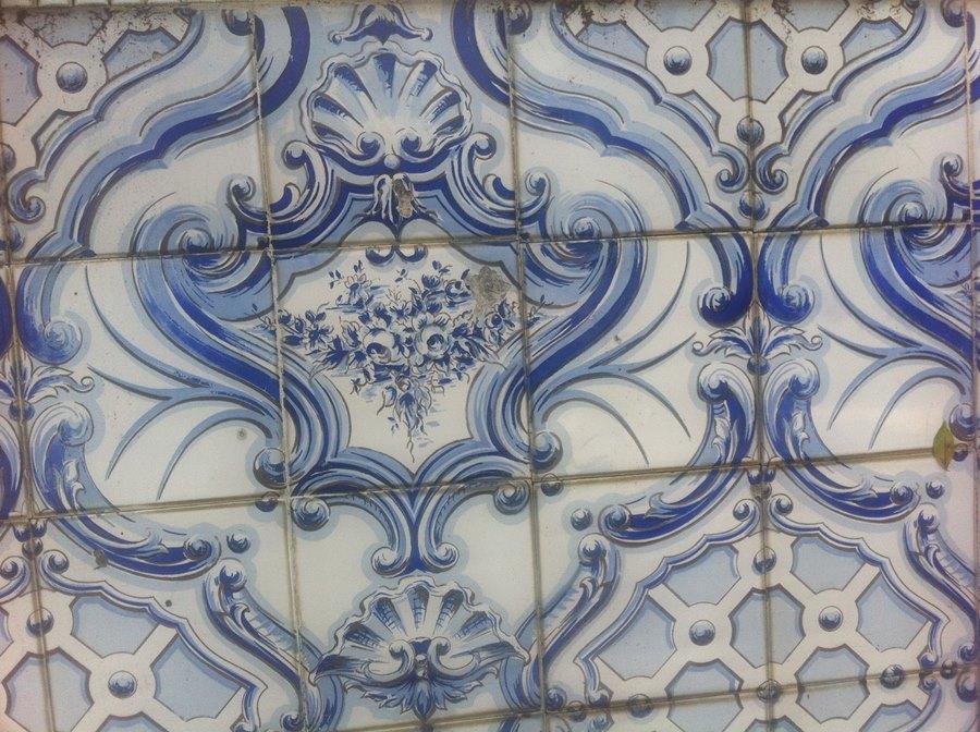 Detalhe dos azulejos
